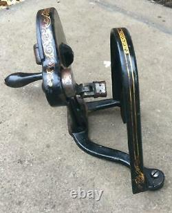 Singer 12K Sewing Machine Hand crank assembly and belt guard