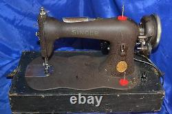 Singer 15 Class Fiddle Body Crinkle Sewing Machine Serviced 1886 60 Day Warranty