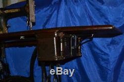 Singer 27 Vs2 Fiddle Base Long Shuttle Treadle Sewing Machine Serviced 1889