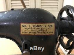 Singer 31-15 Industrial Tailors Antique Treadle Sewing Machine SEWS STRONG