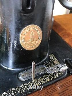Singer Antique Sewing Machine in Cast Iron Treadle. Probably The Best