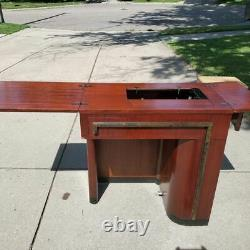 Singer Art Deco Sewing Cabinet and Bench