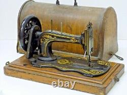 Singer Fiddle Base Sewing Machine Hand Crank Antique Collectable
