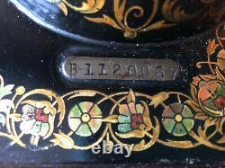 Singer Model 27 Treadle Sewing Machine Antique Rare Pheasant Decals B Series