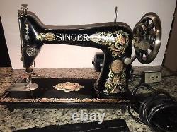 Singer Model 66 Red Eye Sewing Machine Vintage