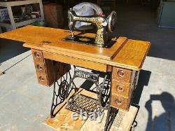 Singer Model 66 Treadle Sewing Machine Mfg. 1912