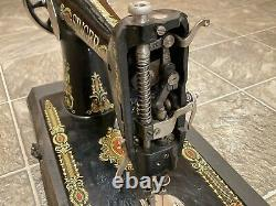 Singer Red Eye Sewing Machine Antique