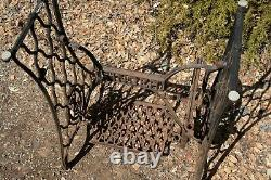 Singer Sewing Machine Treadle Lettered Crossbar(OTS-1)Table Legs Cast Iron Rusty