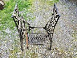 Singer Sewing Machine Treadle Plain Crossbar (DCK) Table Legs Cast Iron Cmplt