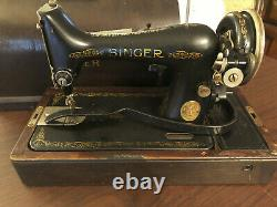 Singer Sewing Machine Vintage Antique with case and key