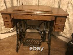 Singer Treadle Sewing Machine Model# Au 52-30-31converted To Electric