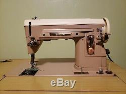Vintage Antique 1950s Singer 404 Sewing Machine & Table