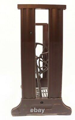 Vintage Antique Singer Wood & Cast Iron Brown Treadle Sewing Machine Base Deco