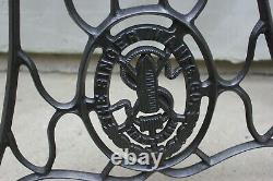 Vintage Industrial Steampunk table legs Cast Iron Singer Sewing Machine metal ba