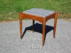 Vintage Mid Century Modern Rocketeer Singer Sewing Stool Vanity Chair Footstool