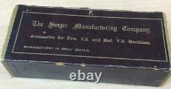 Vintage Singer Family and Medium Vibrating Shuttle Sewing Machine accessories