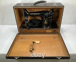 Vintage Singer Sewing Machine 201K Electric Working Cheney Case