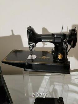 Vintage singer featherweight 221 sewing machine antique authentic