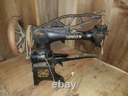 Vtg Singer 29-k5l Industrial Heavy Duty Cobbler Leather Treadle Sewing Machine