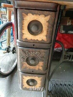 Vtg Singer Treadle Sewing Machine Table Oak Wood Cabinet Cast Iron PICK UP NJ