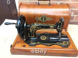 1874 Antique Chanteur 12k De Base Fiddle Manivelle Machine À Coudre