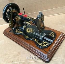 1879 Antique Singer 12k Fiddle Base Main Cran Machine À Coudre