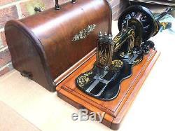 1884 Antique Chanteur 12k Base De Fiddle Machine À Coudre À La Main Manivelle