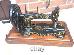 1888 Antique Singer 12k Fiddle Base Main Crank Machine À Coudre