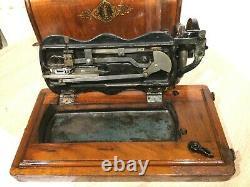 1888 Antique Singer 12k Violon Base Handcrank Machine À Coudre