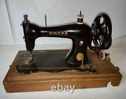 1890 Amélioration De La Forme De La Famille Fiddle Modèle Singer Hand Crank Machine À Coudre