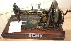 1890 Antique Chanteur 12k De Base Fiddle Manivelle Machine À Coudre