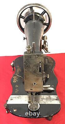 1891 Singer Vs2 Fiddle Base Treadle Machine À Coudre Rose Pattern Withshuttle