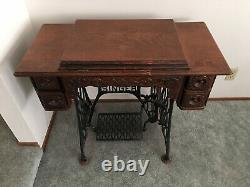 1903 Antique Singer Machine À Coudre Treadle Sphinx Excellent One Family Owned