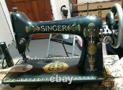 1908 Antique Singer Modèle 66-1 Lotus Décals Machine À Coudre M# D739960