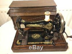 1909 Chanteur Vintage 28k Machine À Coudre Manivelle, Couture Quilting Vendange