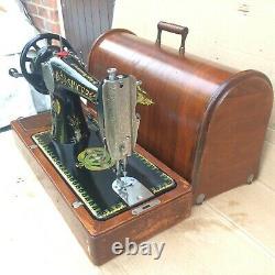 1919 Antique Singer 66, 66k Lotus Decals Main Manivelle Machine À Coudre
