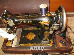 1921 Singer Machine À Coudre Brentwood Case With Foot Pedal