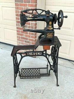 1925 / 1926 Singer 29k51 Cuir Cordonnier Industrial Machine À Coudre Machine À Coudre Chaussure