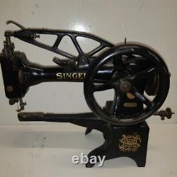 1929 Singer 29k53 Cordonnier En Cuir Machine À Coudre Industrielle