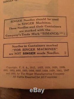 1950 Antique Machines À Coudre Singer
