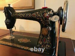 Ancien Chanteur Machine À Coudre Oeil Rouge