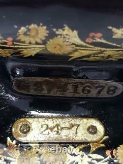 Antigua Maquina De Coser Singer 24-7 Ancienne Machine À Coudre Rare 1910