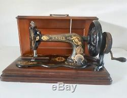 Antique 1879 Machines À Coudre Singer 12k De Base Fiddle Manivelle Acanthe