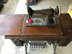 Antique 1900 Chanteur Treadle 7 Tiroirs Machine À Coudre Oak