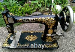 Antique 1901 Singer Modèle 27 Machine À Coudre Tiffany Tiffany Decals Working
