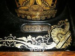 Antique 1910 Chanteur Class127 Sphinx Treadle Modèle Machine À Coudre G 4555628