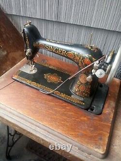 Antique 1911 Singer Treadle Machine À Coudre Modèle 66