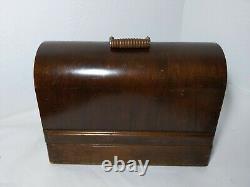 Antique 1922 Singer 99k Coque De La Machine À Coudre Bentwood, Knee Pedal/lever Vintage