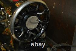 Antique 1925 Vintage Singer Model 128 Machine À Coudre Bentwood Cas Aa281411