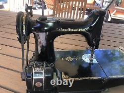 Antique 1950 Chanteur Plume Poids Machine À Coudre Modèle Anniversaire Centenaire